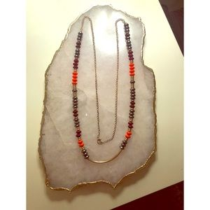 Macy's Fall Colored Beaded Necklace